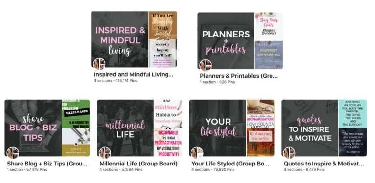 Nadalie Bardo's Pinterest Group Boards